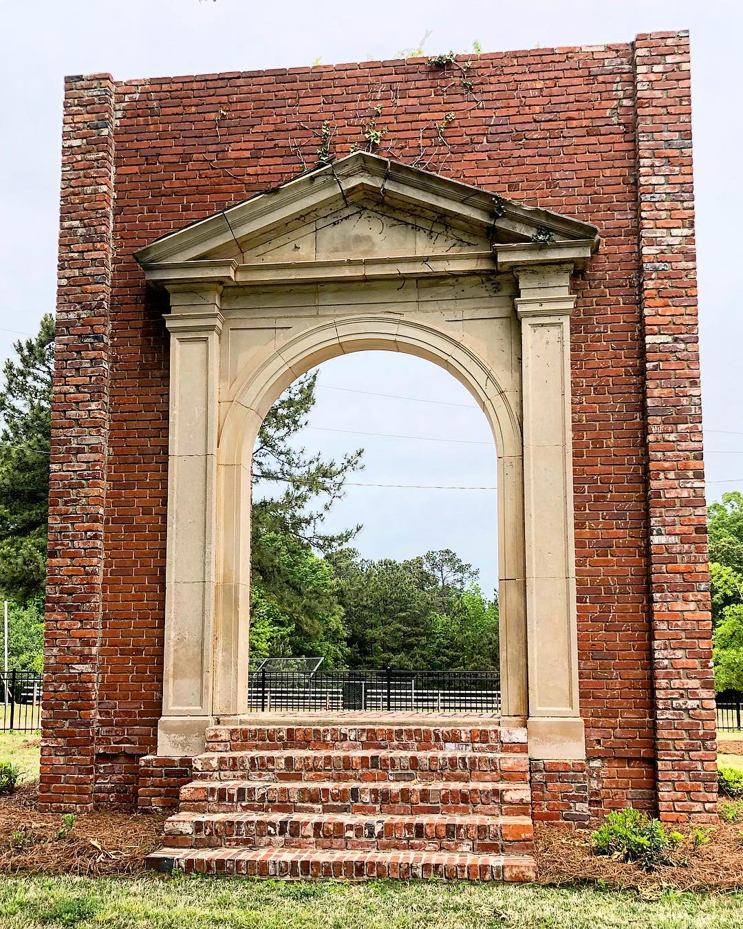 The doorway to the old Ridgeway School. Built in 1921, it closed in the 1960s and was torn down in the 2000s