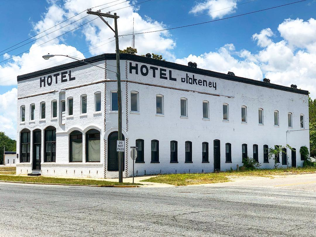 The Blakeney Hotel was built in 1910 at Blakeney's Crossroads, which was renamed to Pageland when the Cheraw-Lancaster Railroad arrived in 1904