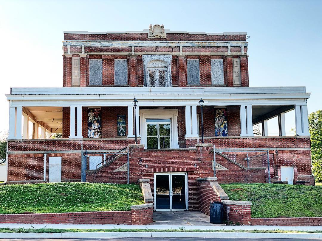 This is the three-story, 15,637 square foot Katherine Hall in Ware Shoals. The iconic building, built in 1913, has served as the social and cultural hub of the town. The Beaux Arts architectural style building includes a 500-seat auditorium that has the ability to provide performing arts space. The building is in the process of being renovated and will serve as the Ware Shoals Town Hall