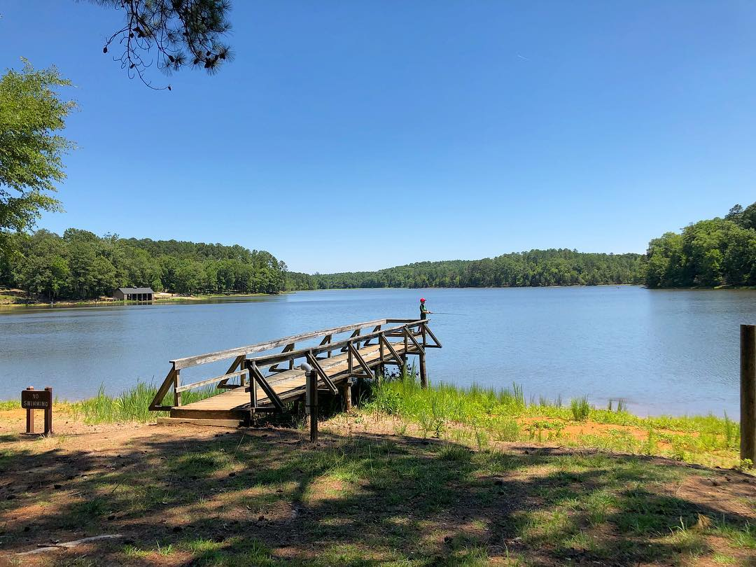 Chester State Park Is 523 acres include a 160-acre lake. It was built by the Civilian Conservation Corps and it includes a stone spillway