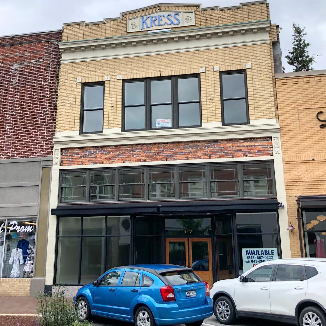 "S. H. Kress & Co. was the trading name of a chain of ""five and dime"" stores. This Kress in Florence was designed by Seymour Burrell and built in 1915. The building was vacant for many years. Restoration work began in 2014 and completed in 2016"