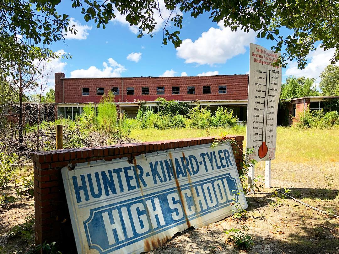 The Norfield 12 Year school was built in 1953 serving black students in Norway, SC during segregation. In 1969, it became Hunter-Kinard High School. It was renamed Hunter-Kinard-Tyler in 1981. The school closed this location and relocated the HS to Neeses. The alumni association has been trying to repurpose the school as a community center, but has been unsuccessful in raising the funds needed to do so