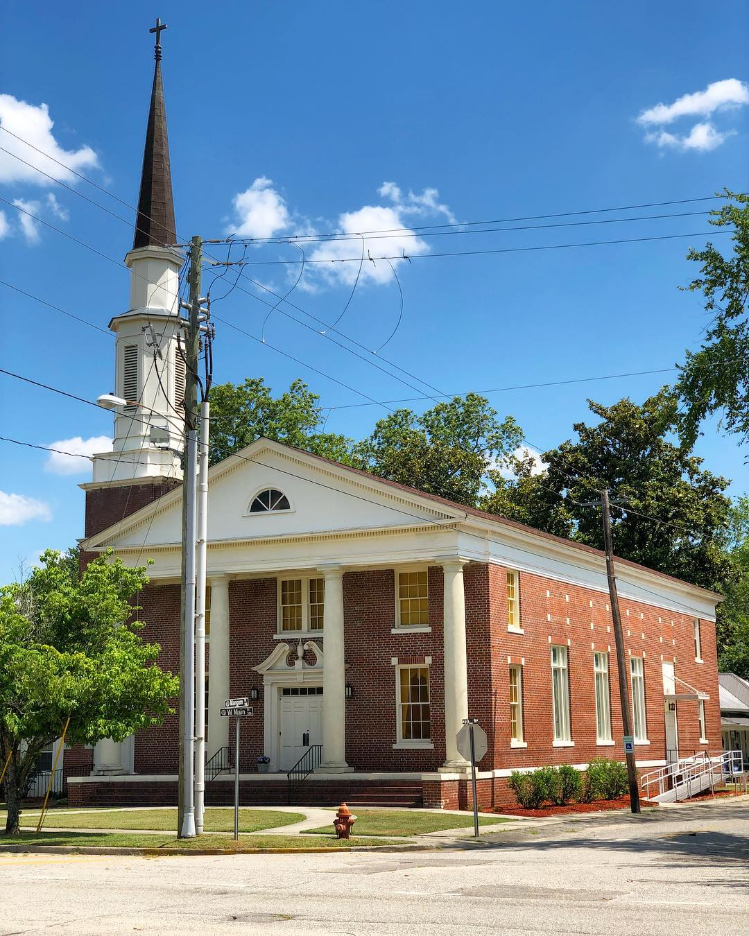 Established in 1908. The history of the church originates in 1889 with nine members. In 1894 the church discontinued services, then reorganized in 1908 with 15 members