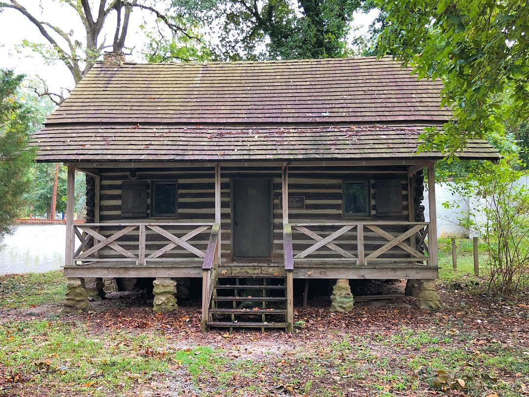 The 1808 Frederick Ergle cabin. The home is thought to be the oldest remaining residential dwelling in Aiken County