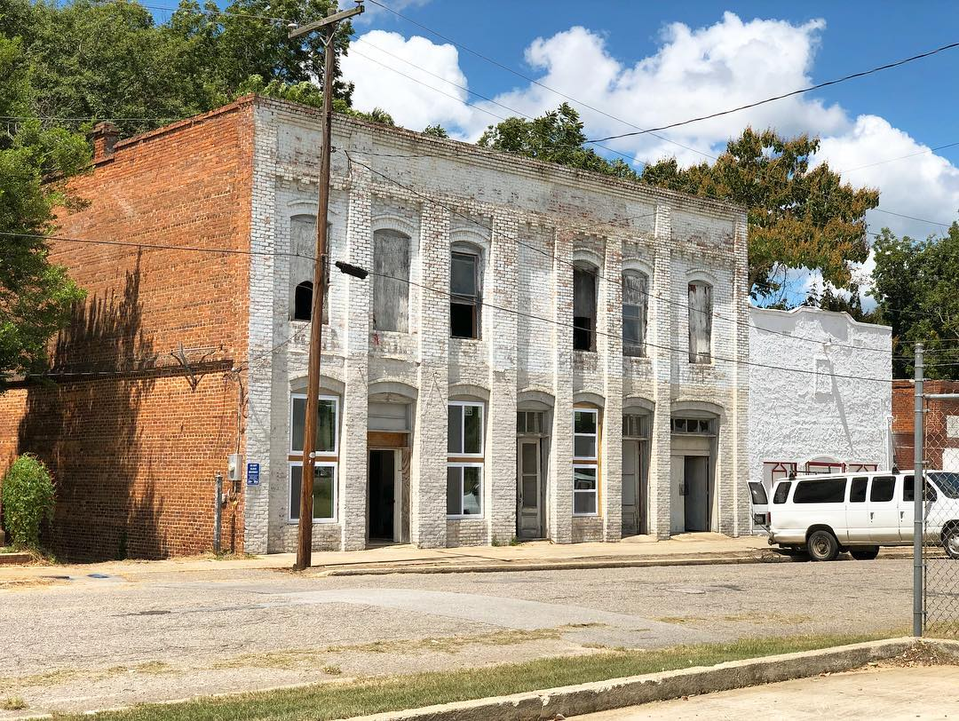This building in North, SC is currently being restored. It was built in 1910 and was a furniture and general merchandise store during the 1920's. It recently had been used as a warehouse