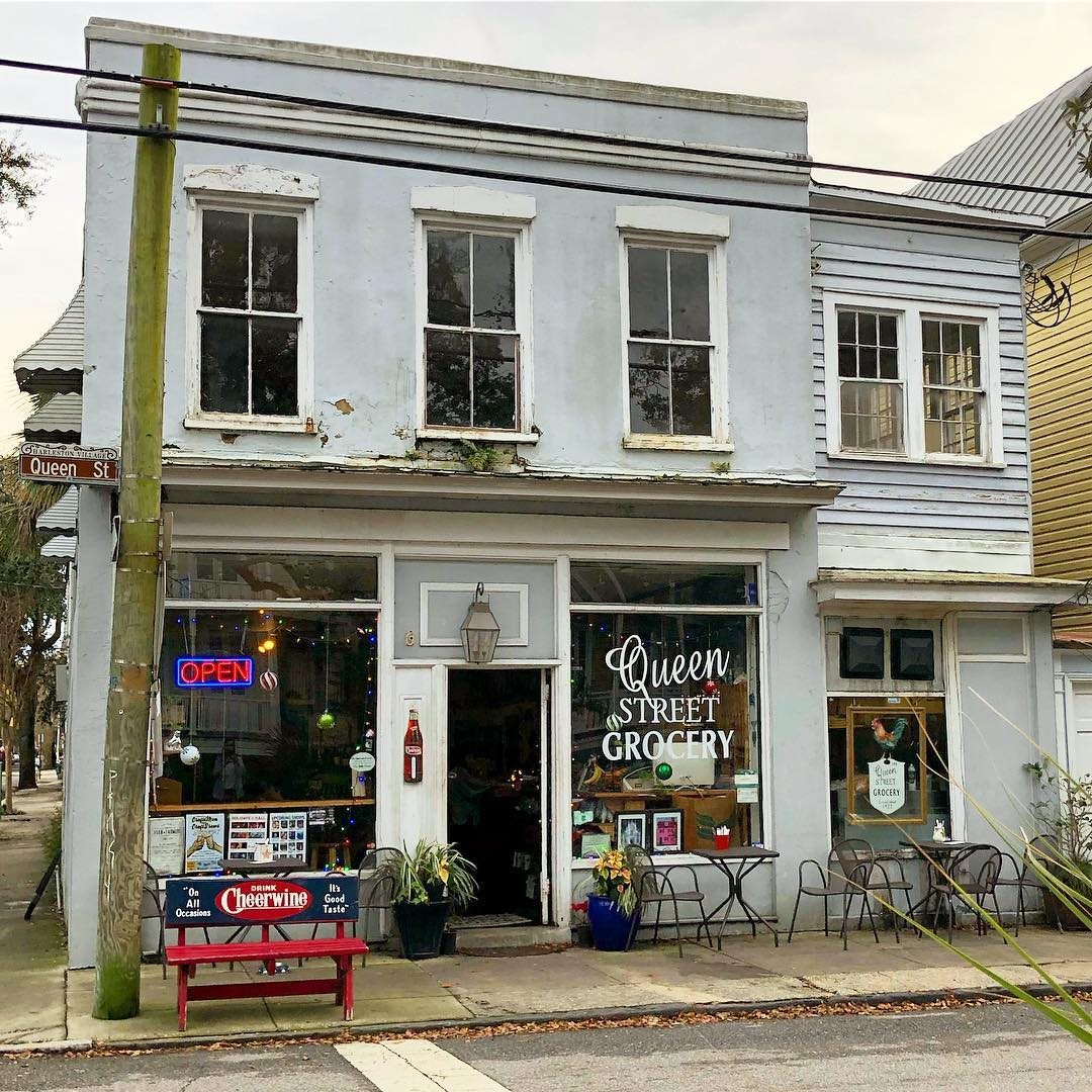 Queen Street Grocery, established in 1922, it is Charleston's oldest corner store with a diverse history: a butchery, a candy shop, a convenience store, and a restaurant. The building was the John Henry Bullwinkle House that the successful German merchant rebuilt ca. 1869 on the site of his pre-fire establishment