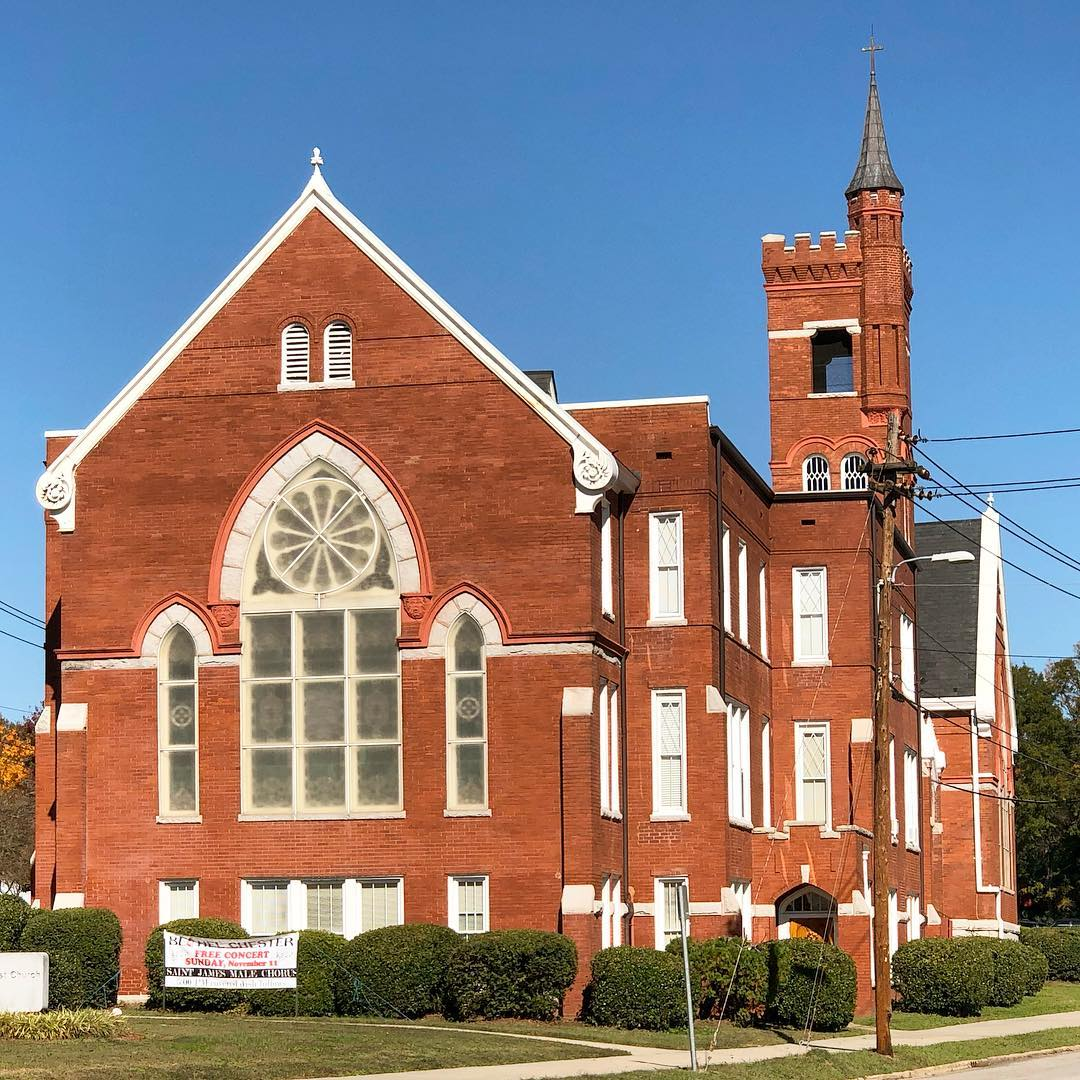Bethel United Methodist Church was founded in 1837. This building was constructed in 1897.  #chestersc #southcarolina #discoversc #discoversouthcarolina #exploresc #exploresouthcarolina #churchonsundays #sundaychurch #insta_carolina #oldchurch #oldchurches #umc #travelsc #visitsc #southerncharm #southernliving