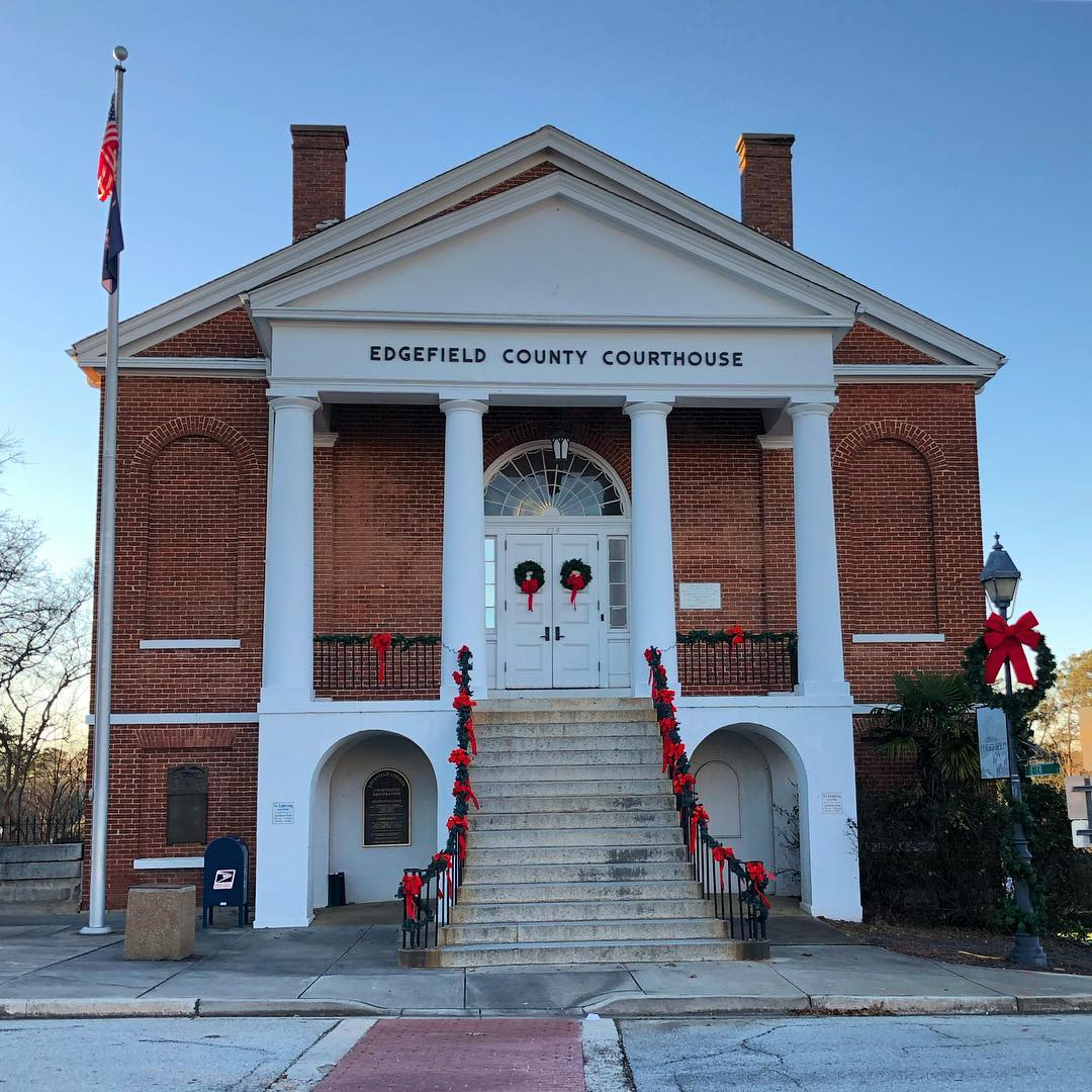 Edgefield County Courthouse was built in 1839