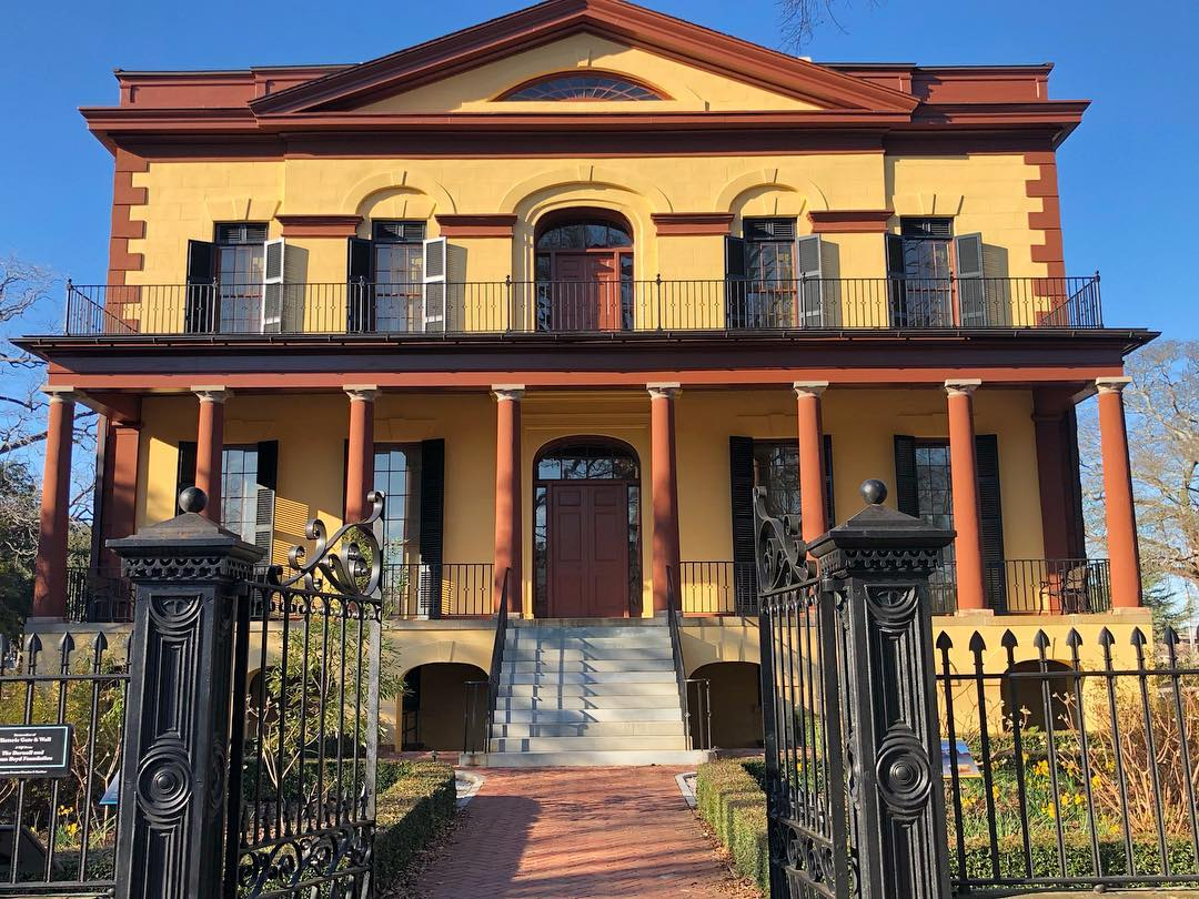 Wealthy Columbia merchant Ainsley Hall had this mansion built in 1818. It was sold to Wade Hampton I in 1823. it was used as a headquarters for the Union Army in February of 1865 and later saved by a local nun during the Burning of Columbia