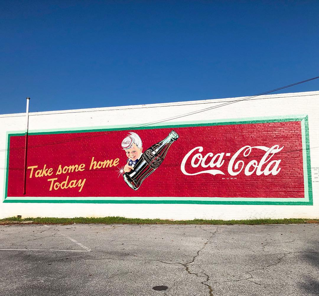 Painted in 1942 by Haddon Sondblom for Coca-Cola. It was restored in 1999, 2004, and 2016