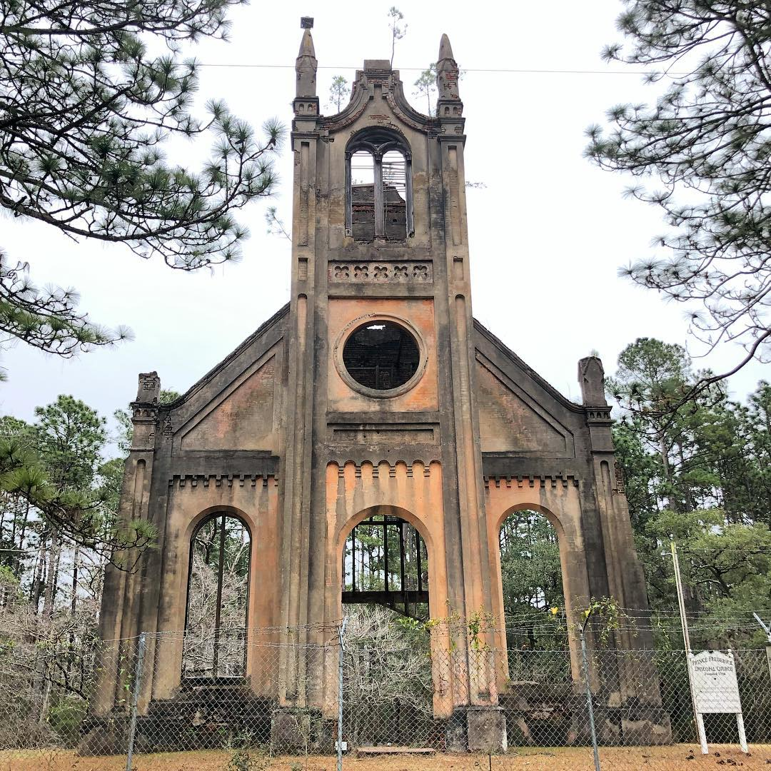 Prince Frederick Parish was created in 1734. This chapel began construction in 1859, halted during the Civil War and not completed until 1876. Most of the building was dismantled in 1966