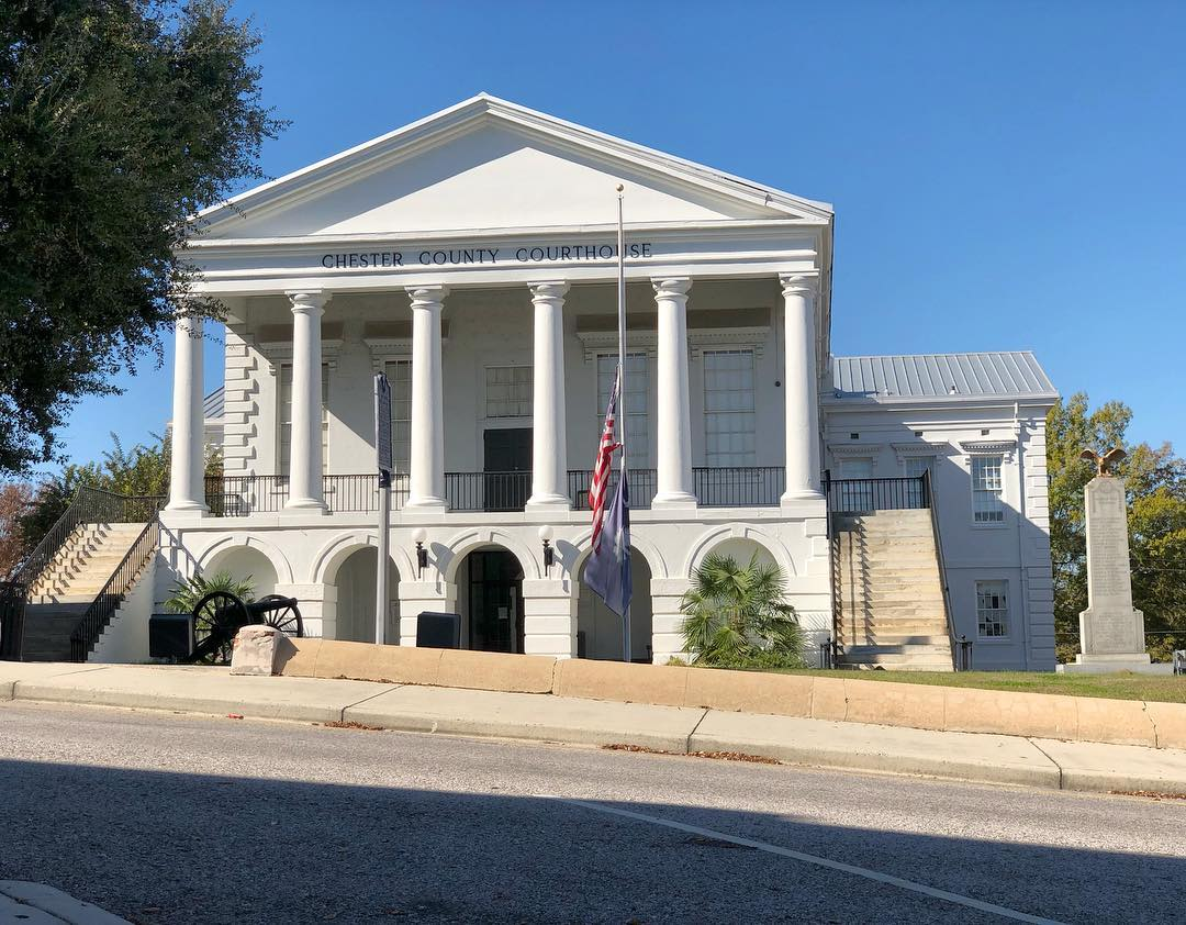 The Chester County Courthouse was constructed in 1852