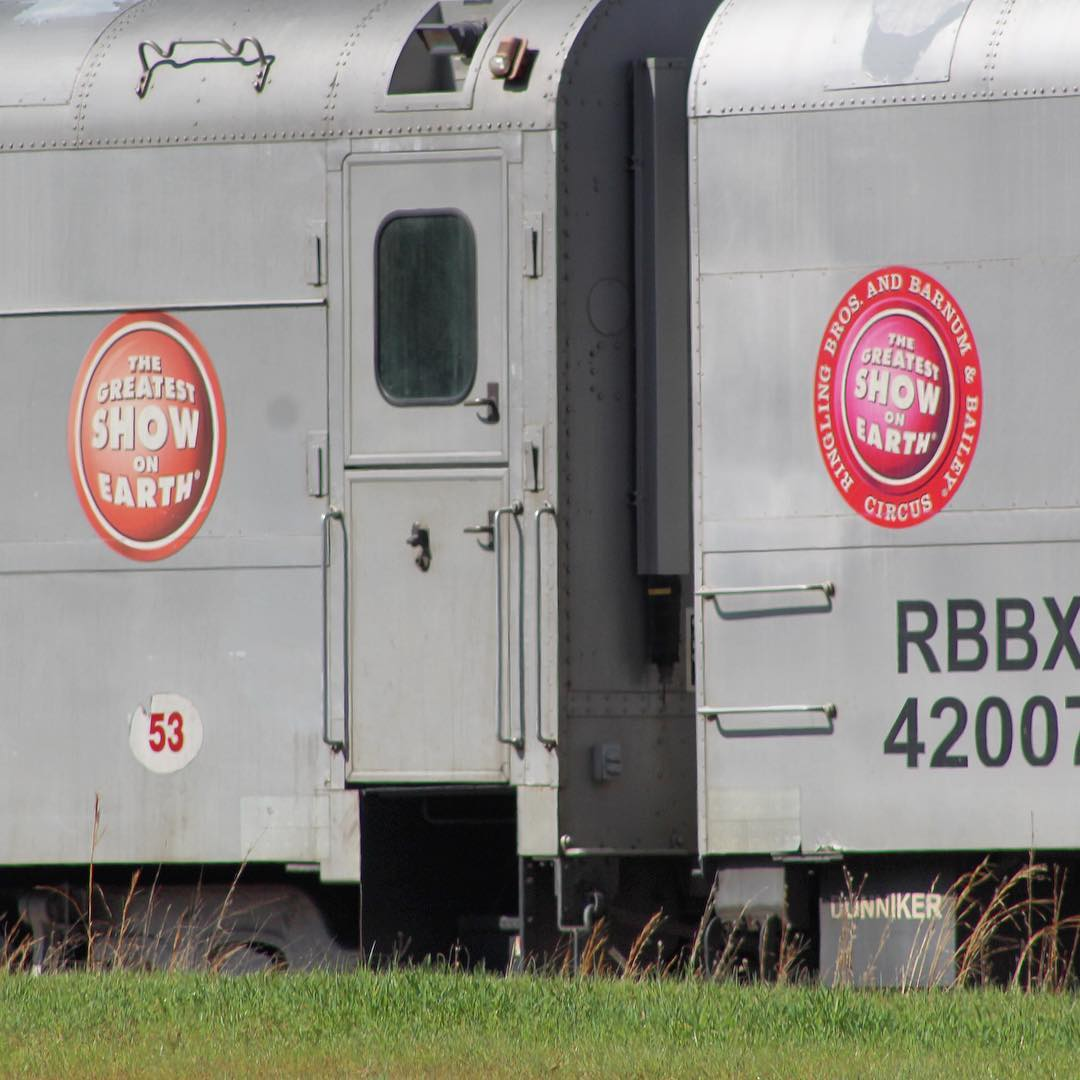 The South Carolina Railroad Museum in Winnsboro, SC features several Barnum & Bailey Circus train cars