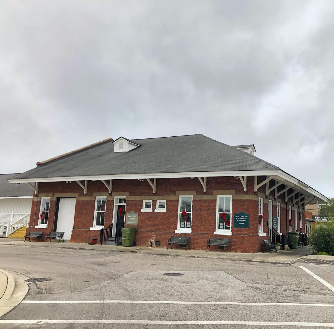 This depot in Lake City was built in 1913 as a passenger and freight depot. Atlantic Coast Line Railroad built this depot