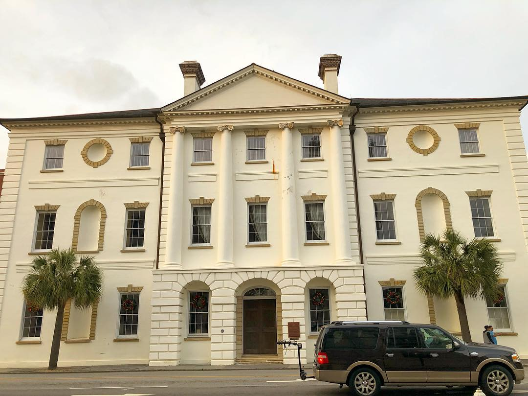 Charleston County Courthouse, built in 1792, is a Neoclassical building designed by architect James Hoban. Hoban later designed the U.S. White House. The courthouse was built on the ruins of the South Carolina Colonial Statehouse that burned in 1788