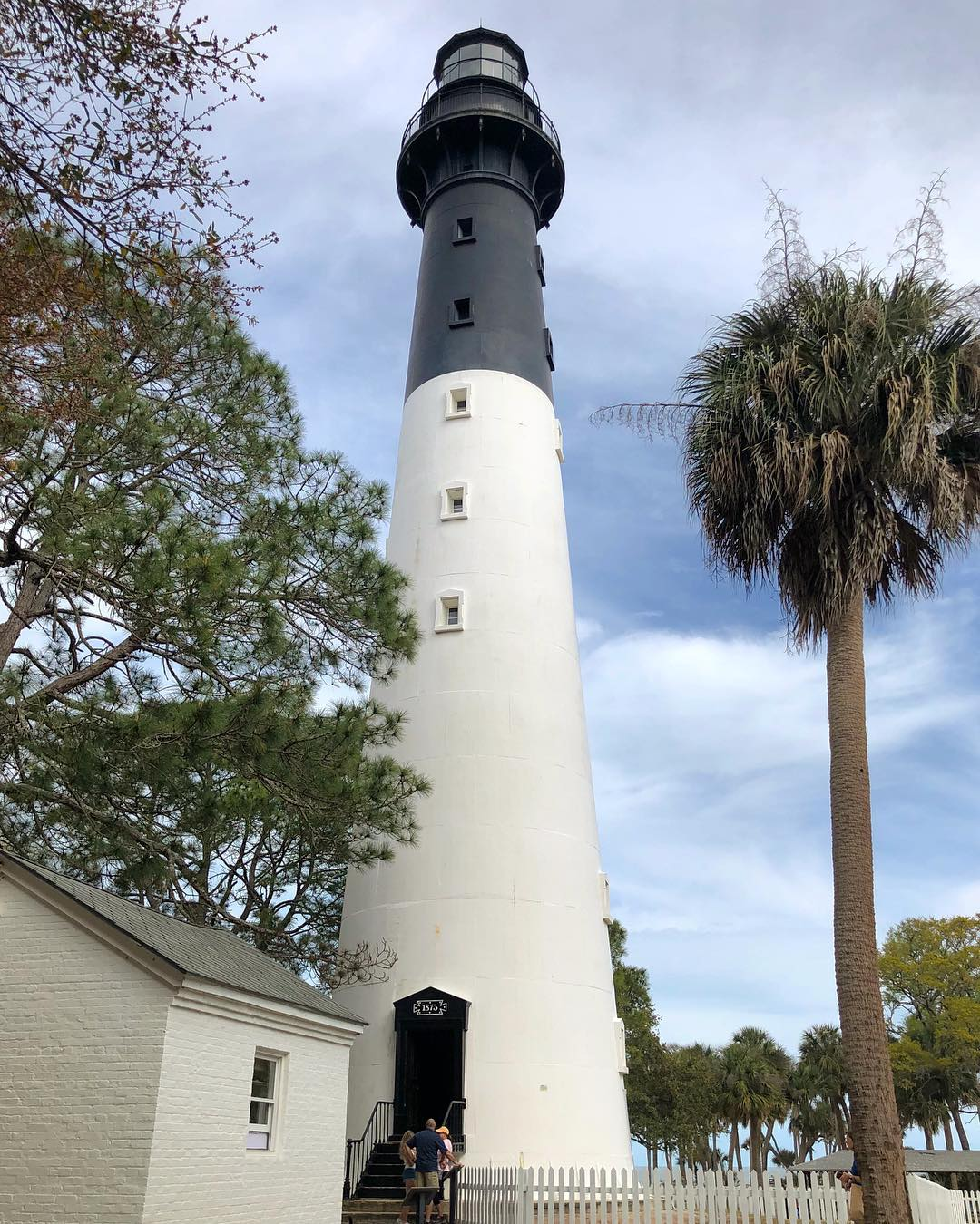 Erected in 1873 and was completed in 1875.  It was relocated from a mile away in 1889 to their present location. The Lighthouse continued operation until deactivation in 1933