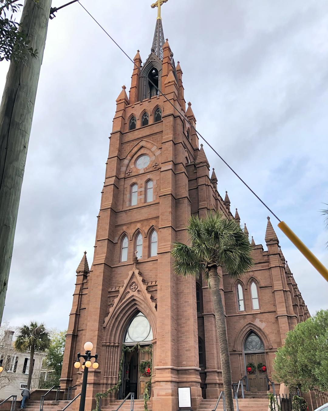The Cathedral of St. John the Baptist is the mother church of the Roman Catholic Diocese of Charleston. The church was founded in 1800 and this building was built in 1907 in the foundation of the church that burned in 1854
