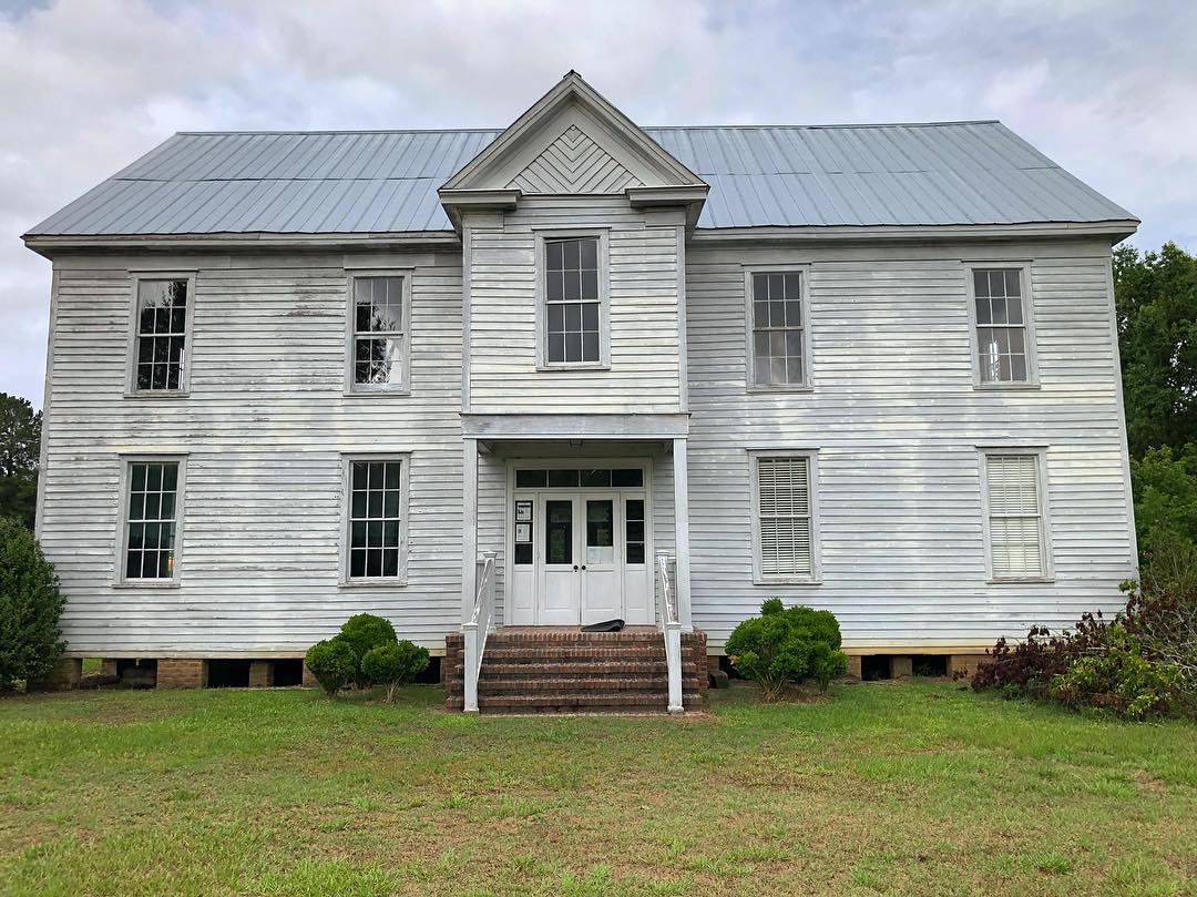 """Goodwill Parochial School is a ca. 1890 building.  The school was established during Reconstruction. It was one of the """"most active"""" black parochial schools sponsored by the Presbyterian Church in SC with 350 students"""