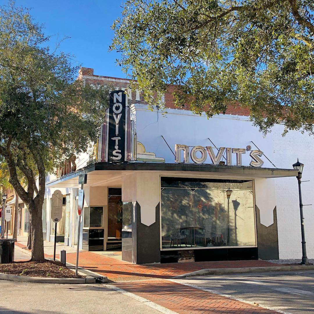 "This was the original store of Alfred Novit when he went into business in 1918. After moving his department store down the street in the 1930s he converted this into ""Novit's Fashion Shoppe,"" a high-end emporium for Walterboro women"