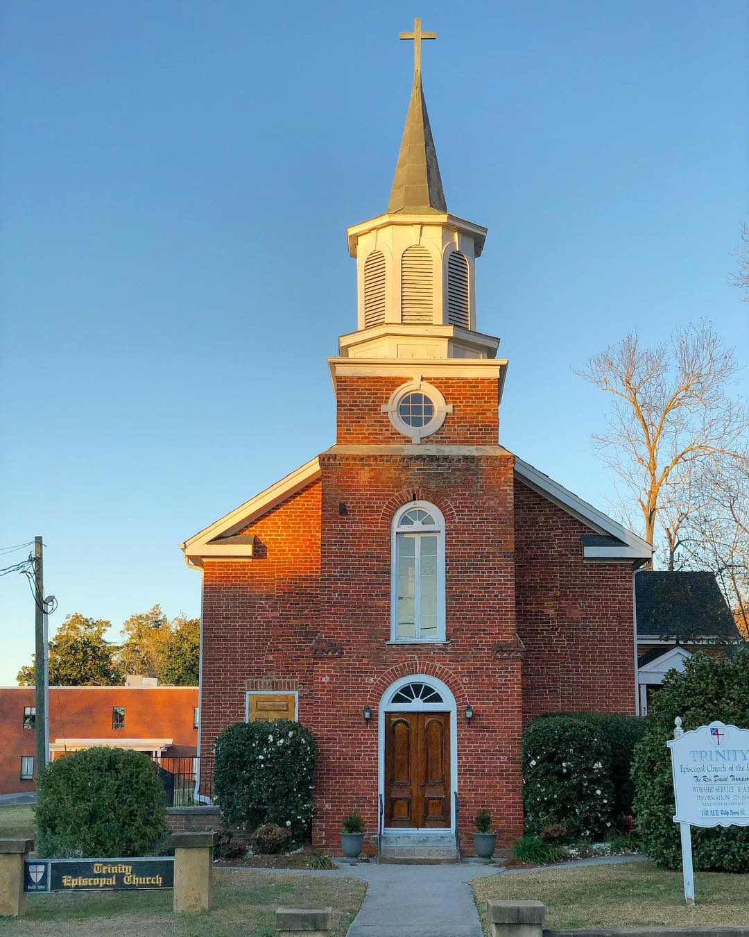 Trinity Episcopal Church was built in 1836. It is the oldest church building still standing in the town of Edgefield