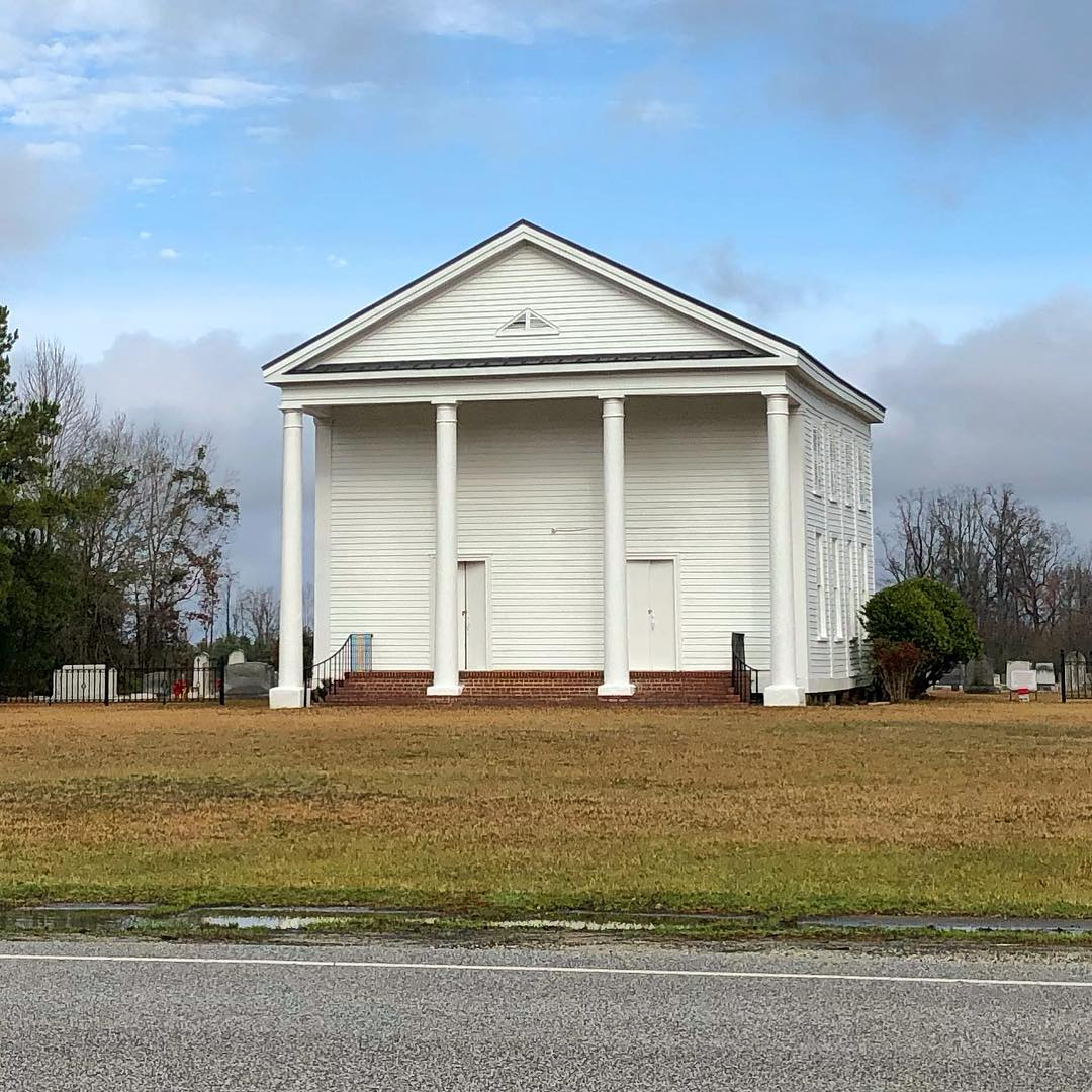 Lynchburg Presbyterian Church, built in 1855, was built in the late antebellum Greek Revival ecclesiastical architecture. The sanctuary was built by members of the congregation, with the assistance of members of the Lynchburg Methodist Church