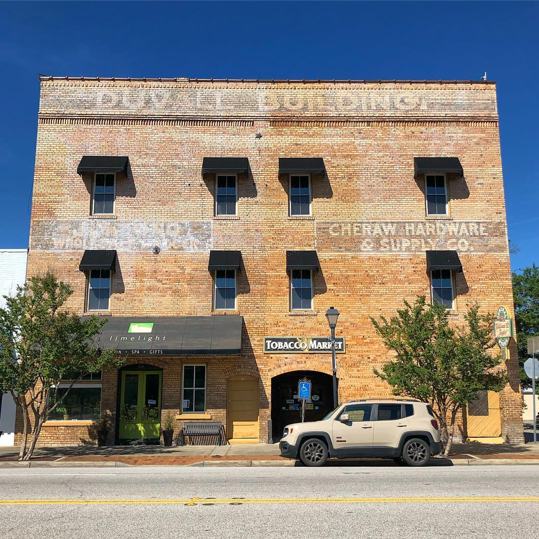 Duvall Building, built in 1914. It was built for H.P. Duvall's Cheraw Hardware & Supply Company