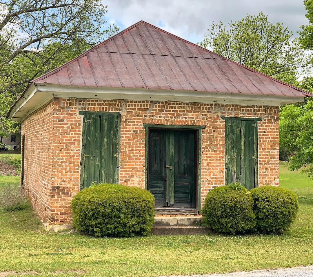 The 1850 brick store located across from the old Cokesbury College