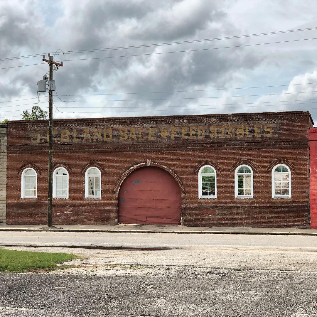 J.F. Bland Stables, built about 1895