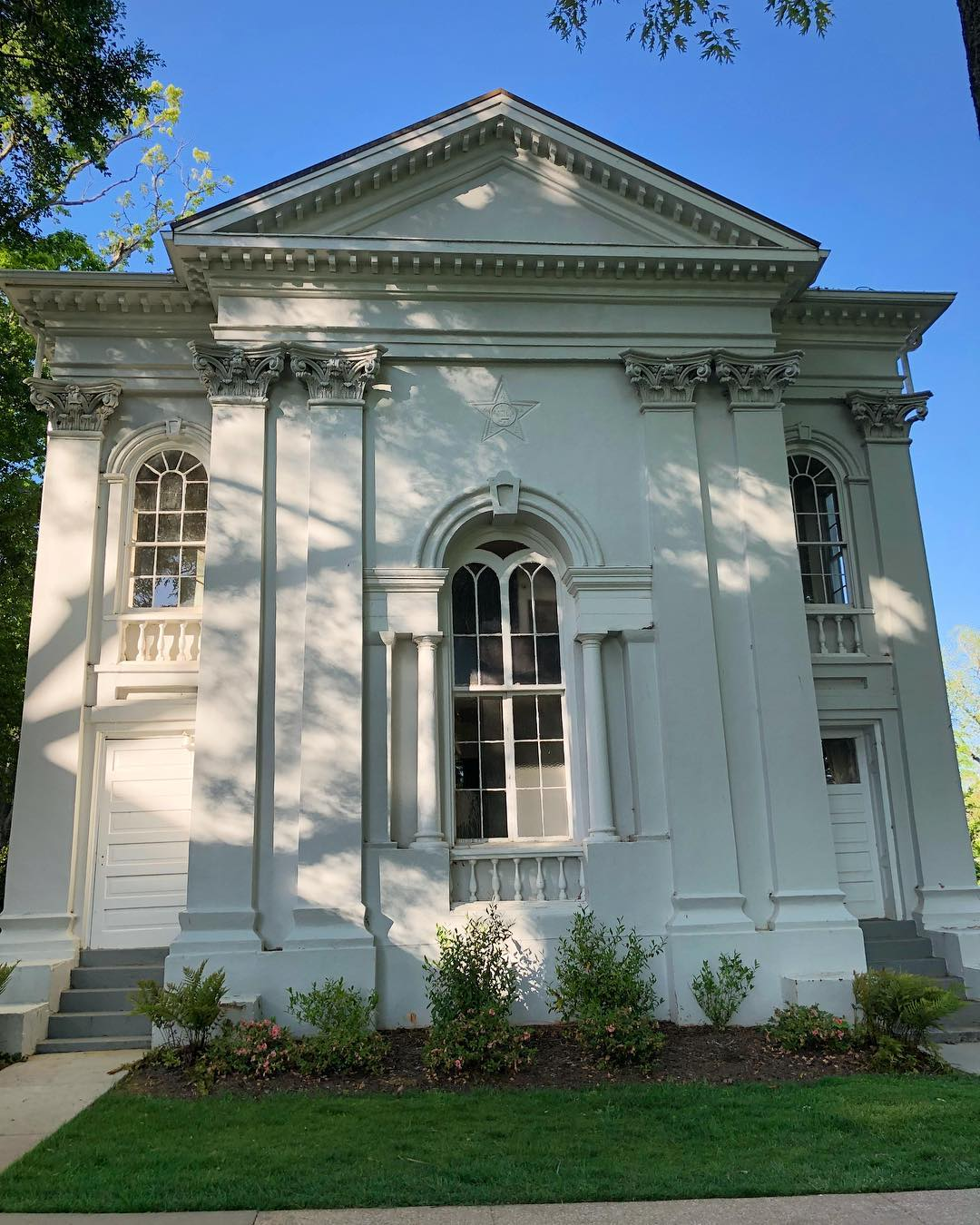 Philomathean Literary Society Hall, on the Erskine College Quad, was built in 1859