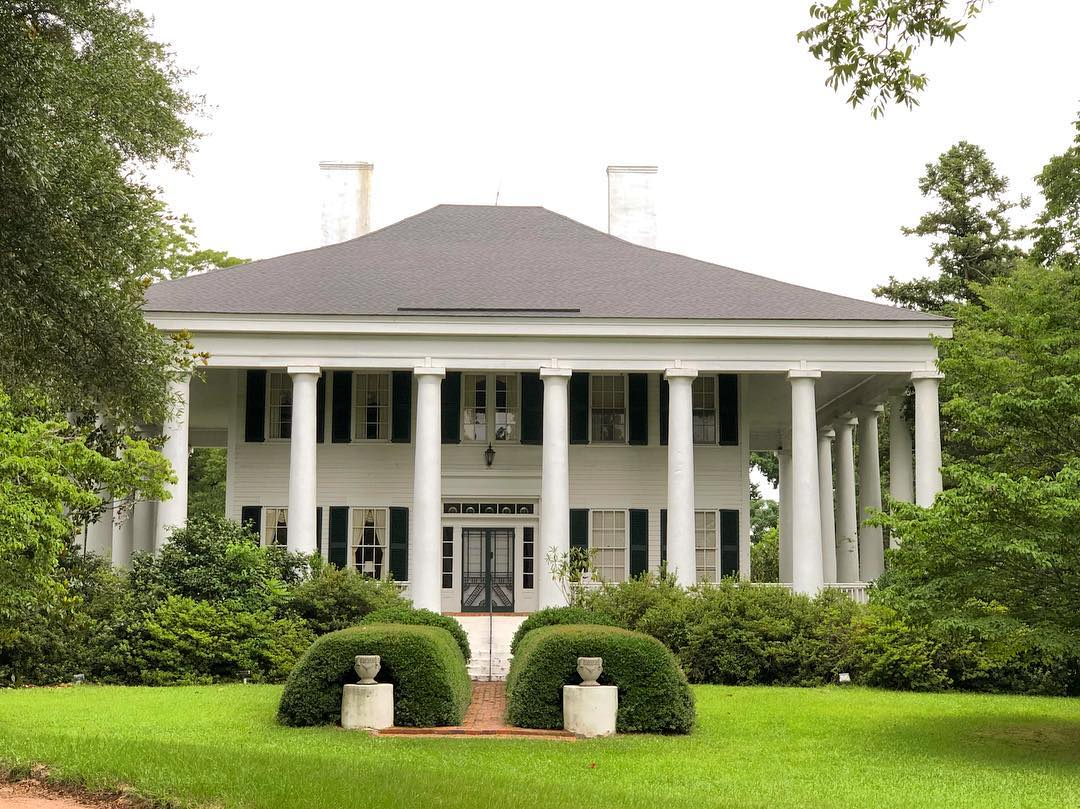 """The Rankin-Harwell House (aka The Columns) was built in 1857 in the Greek Revival style. Locals dubbed the house """"Carolina Hall"""" for its role in the 1934 film known as Carolina which starred Lionel Barrymore, Janet Gaynor and the new child actress, Shirley Temple"""