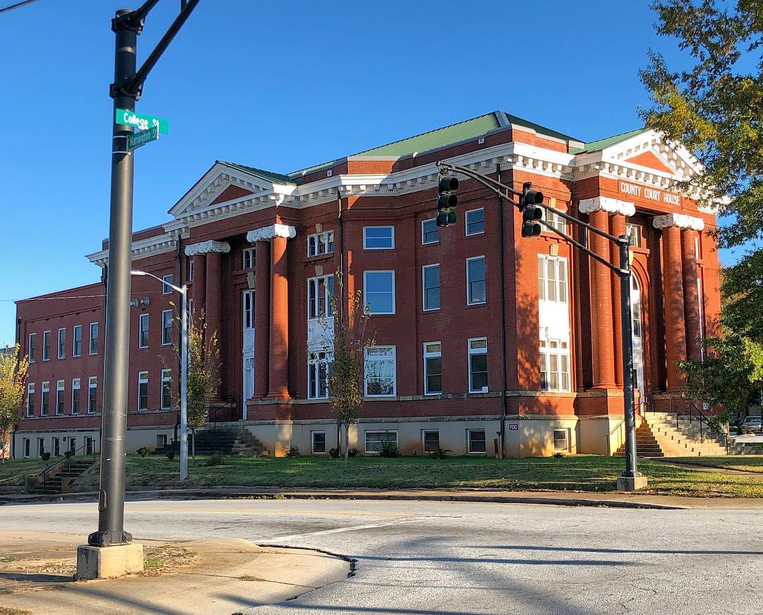 This courthouse was constructed in 1908 and is the fifth courthouse to serve Newberry County