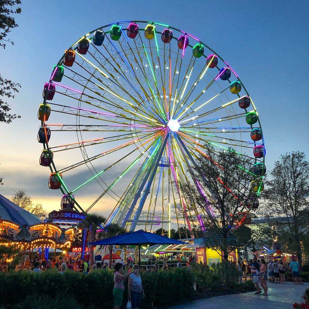 Broadway at the Beach was started in 1995 and the SkyWheel opened in 2011