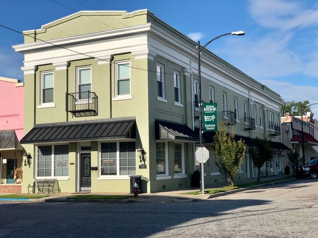 The Old First National Bank, in the Batesburg Commercial Historic District, was built in 1908