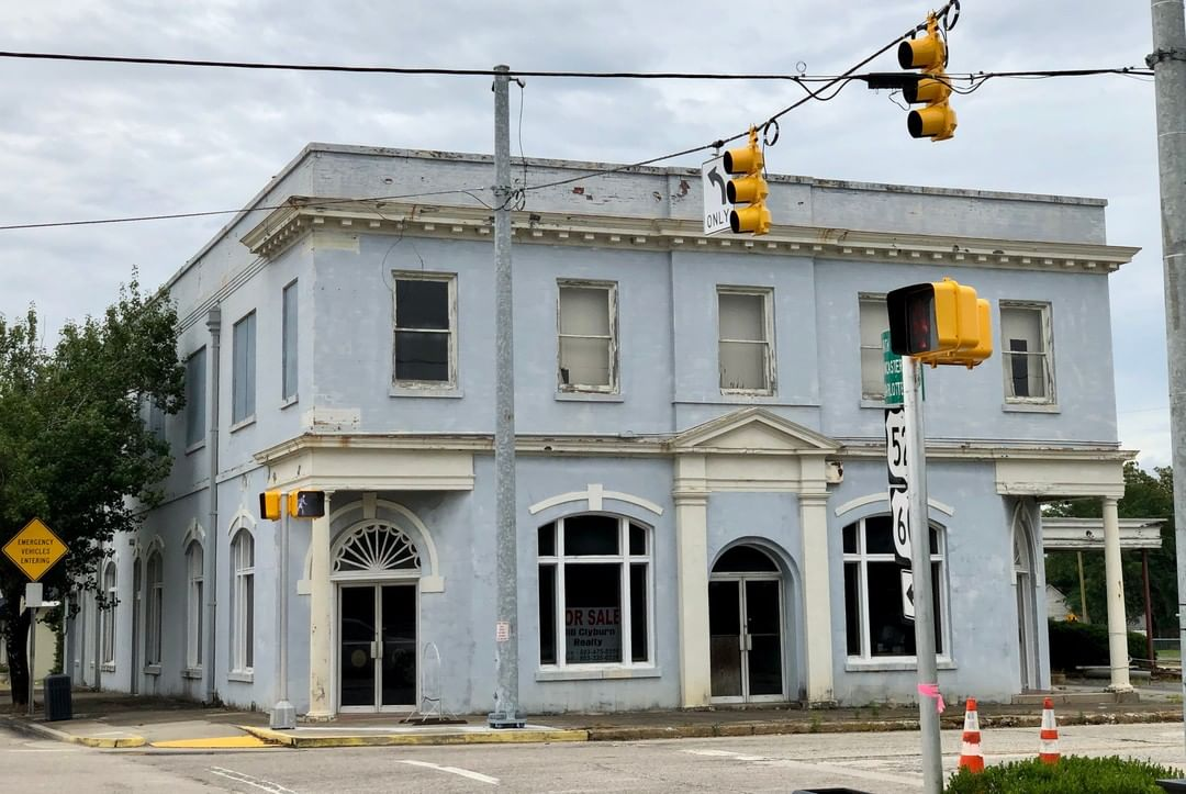 The Palmetto State Savings & Loan building in Kershaw was built in 1925