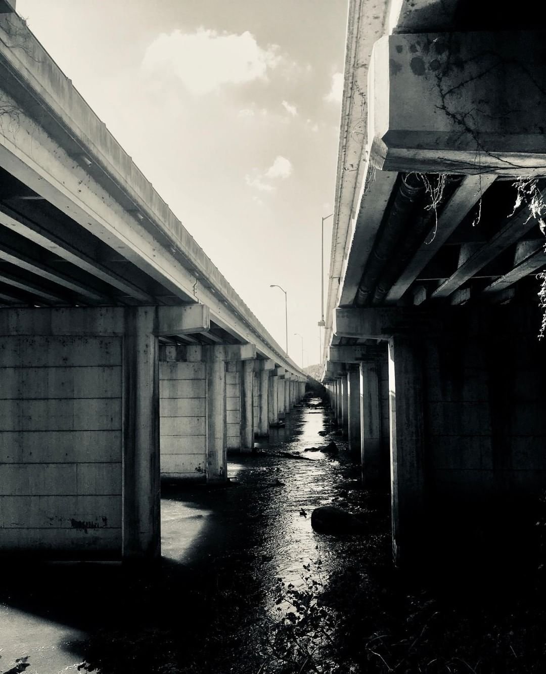 Under the I-126/US-76 bridge over the Broad River