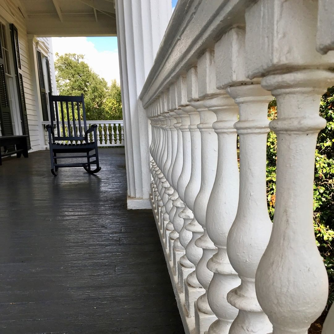 "The porch at the Redcliffe Plantation. Redcliffe Plantation has been named as one of the ""Top Ten Sites to Visit in South Carolina"" by the SC African American Heritage Commission during Black History Month"