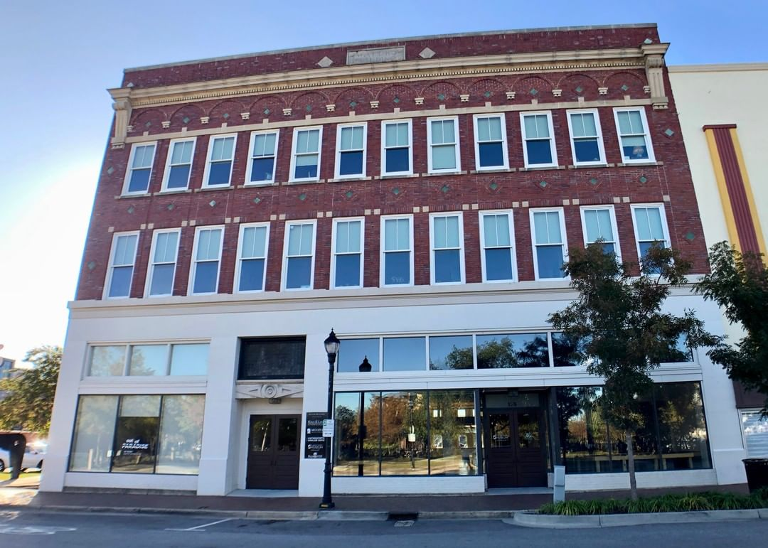 The Waters Building was originally used as a furniture store but also contained space for a funeral home. W.M. Waters built the structure in 1914. The store later became a Kimbrell's before being restored as an multi-use building