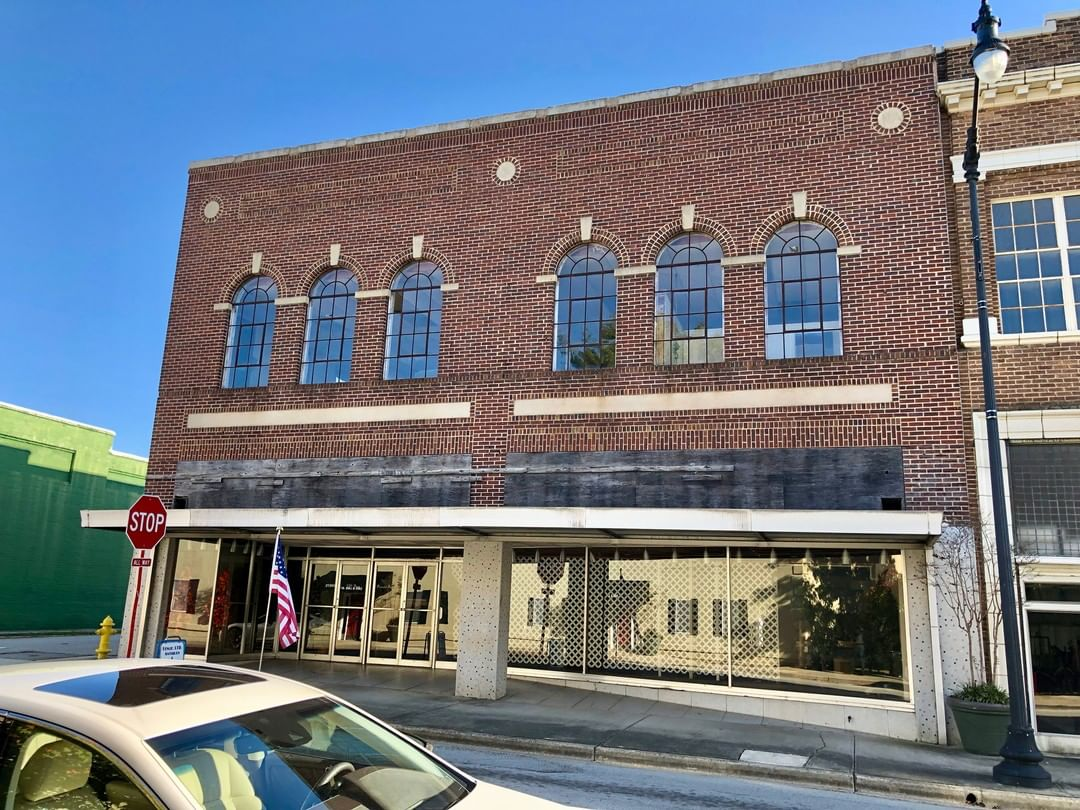 This building in Newberry was built ca. 1912. The building was remodeled and used as a Belk. The building has since been restored to its original brick facade