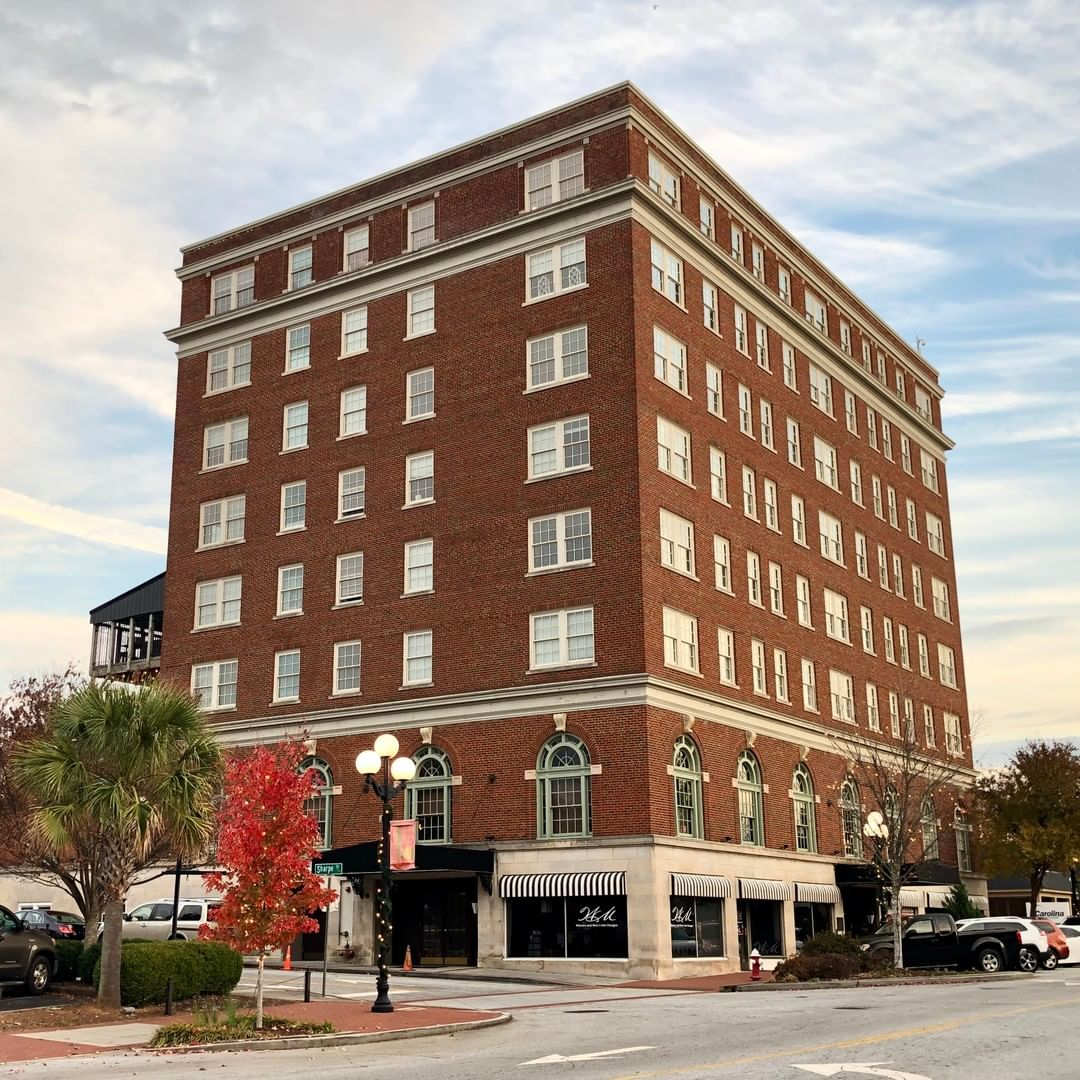 The John C. Calhoun Hotel was built in 1924. It was built to help promote business in the downtown area and is an example of early 20th century hotels