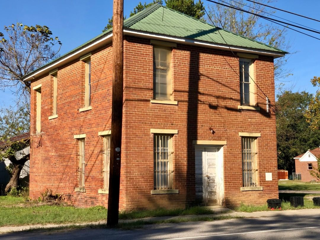 The Salley Jail was built in 1913. It was built as a jail⁠ with a courtroom upstairs. The building has been vacant since the 1970s