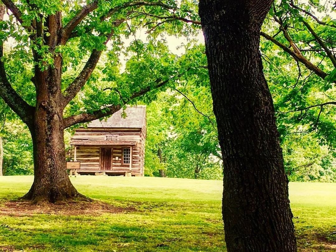 The Faires-Coltharp Cabin was originally built by Jesse Faires in about 1814. Jesse's parents, Alexander and Jennet Faires, traveled here on horseback on the Great Philadelphia Wagon Road or Nation Ford Road from Pennsylvania in 1776.⁠ Photo by: @photographybycarena