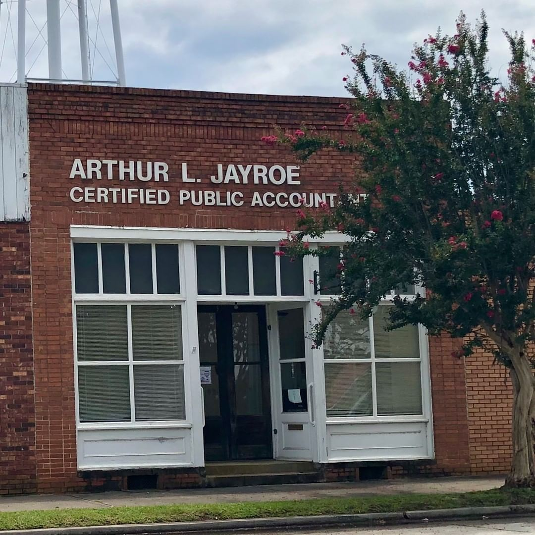 The Dr. J. M. and J. C. Sease Office was built in 1917. The current occupant, Arthur L. Jayroe jr, is a CPA and the town magistrate