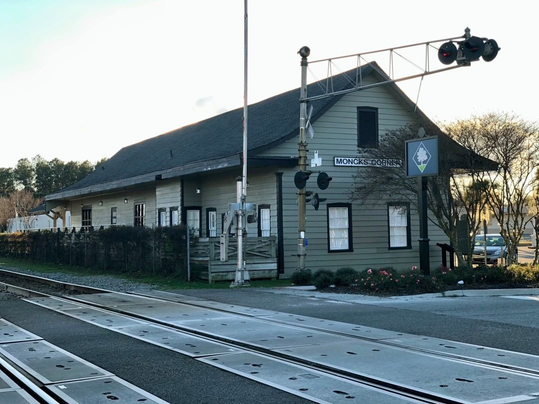 The North Eastern Railroad Company built a depot here around 1857. This current depot was built in 1914