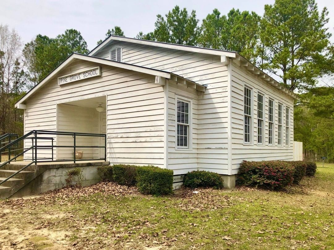 The Pine Grove Rosenwald School in the St. Andrews area of Columbia was built in 1923. The layout of the Pine Grove Rosenwald School is a variant of the two-room schoolhouse published as Rosenwald Community School Plan No. 2-C