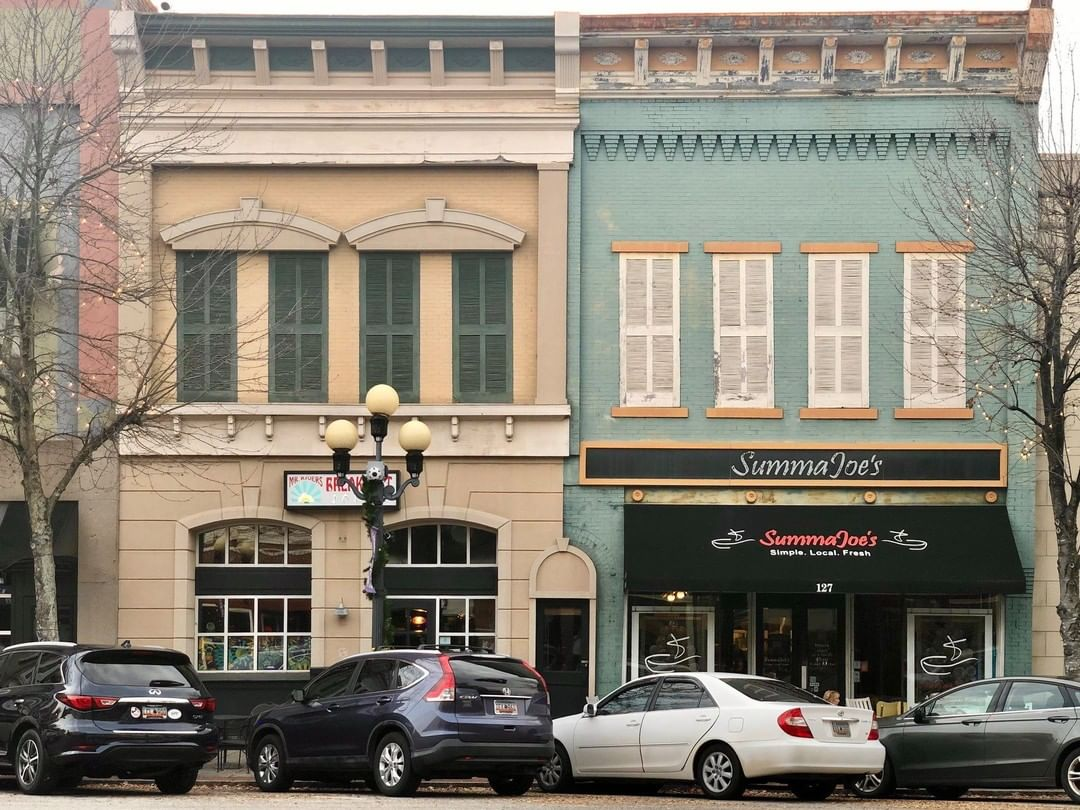 """These buildings were built in 1905 and housed the first """"moving picture"""" theater in Anderson"""
